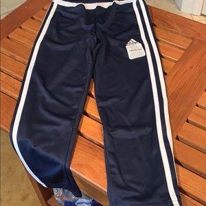 Pants, NWT, Adidas, sport, navy, polyester, Sz 6